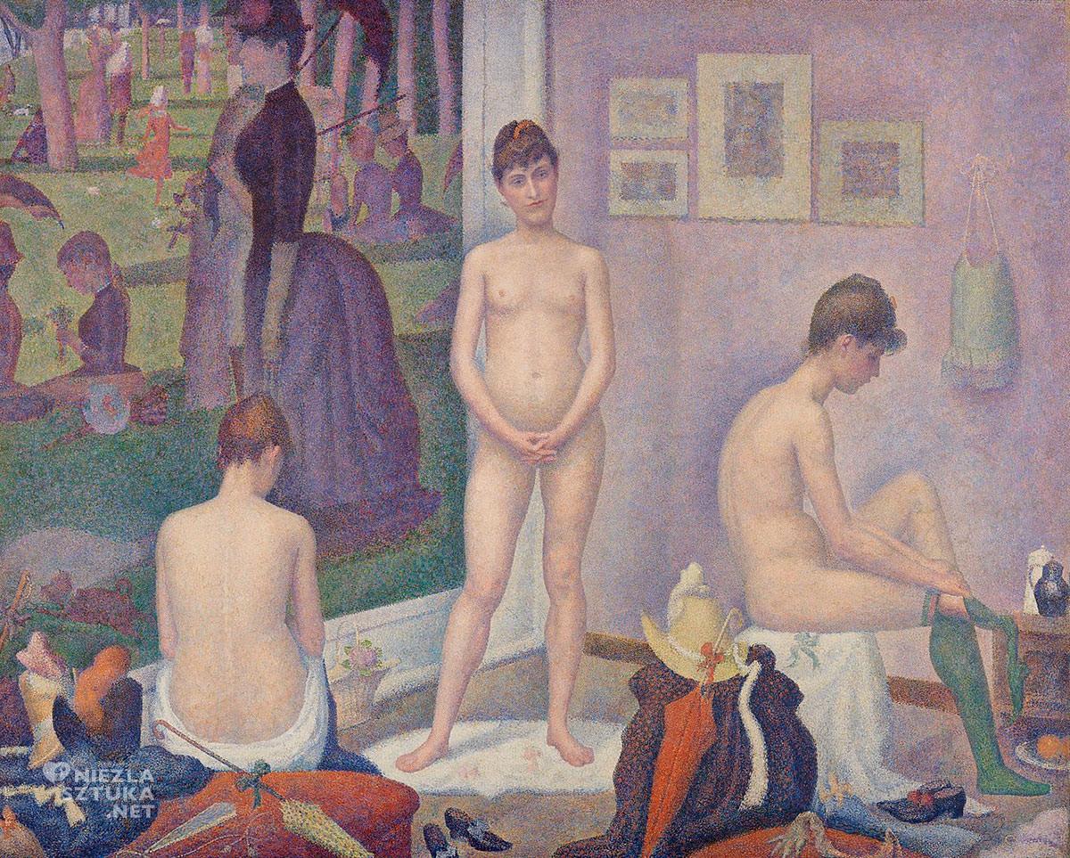 Georges Seurat, Modelki, puentylizm, postimpresjonizm, obraz w obrazie, Niezła Sztuk