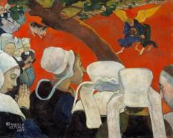 Paul Gauguin, Walka Jakuba z aniołem, scena biblijna, wizja po kazaniu, Niezła sztuka