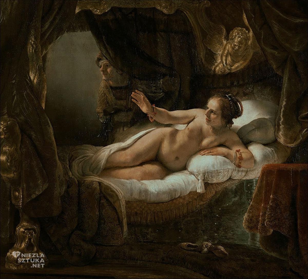 Rembrandt, Danae, malarstwo niderlandzkie, sztuka europejska, Niezła Sztuka