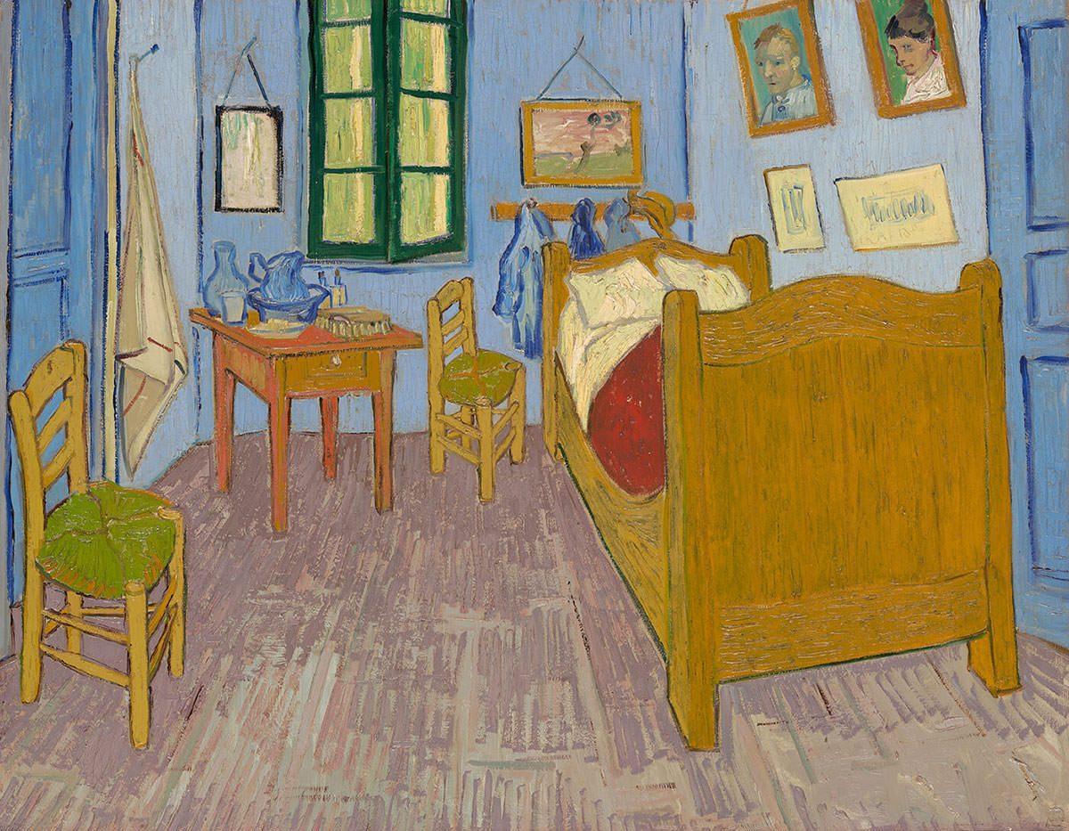Vincent van Gogh, Sypialnia, Sypialnia w Arles, Musée d'Orsay, Paryż, Niezła Sztuka