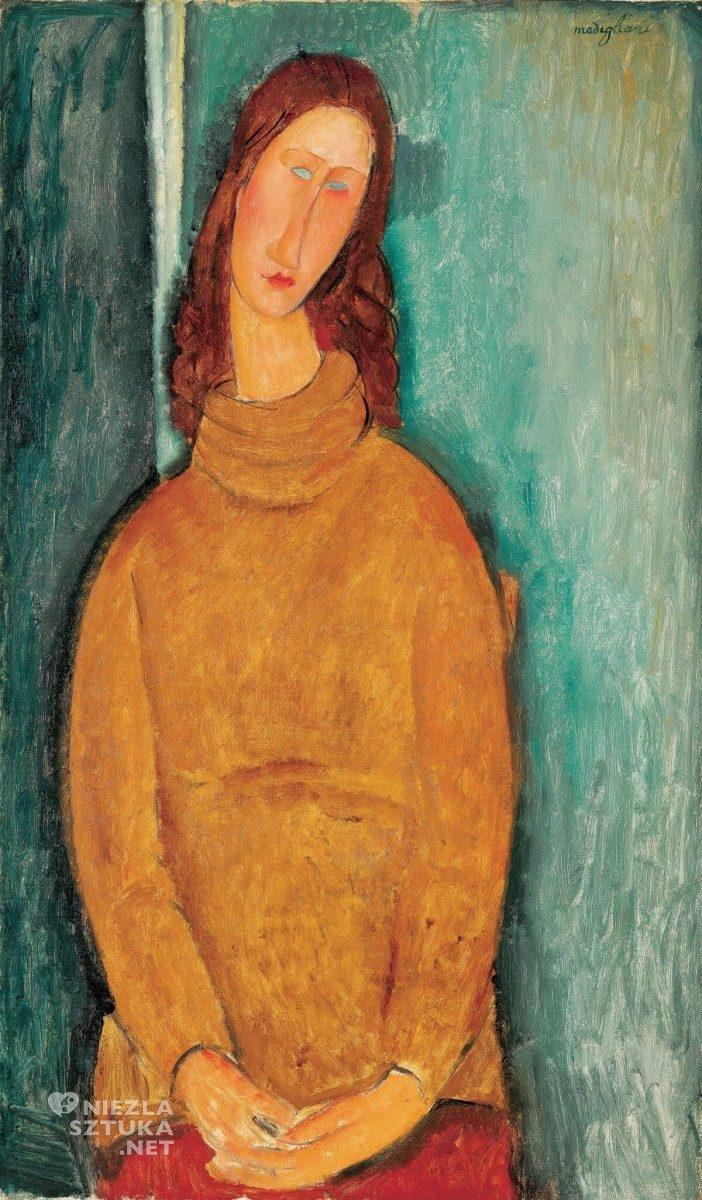 Amedeo Modigliani, Portret Jeanne Hebuterne, portret, bohema paryska, Niezła sztuka