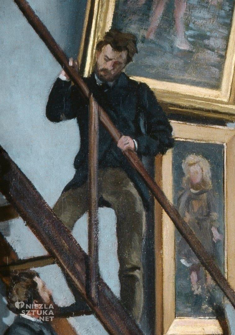 Frédéric Bazille, Atelier Bazille'a, atelier artysty, obraz w obrazie,detal, Musée d'Orsay, Paryż, Niezła Sztuka