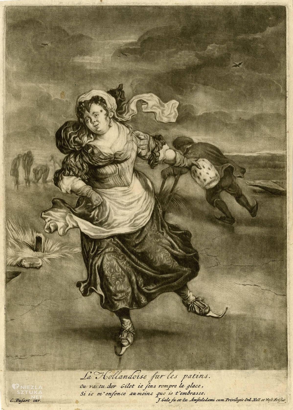 Cornelis Dusart, Jacobus Gole, łyżwy, Niezła sztuka