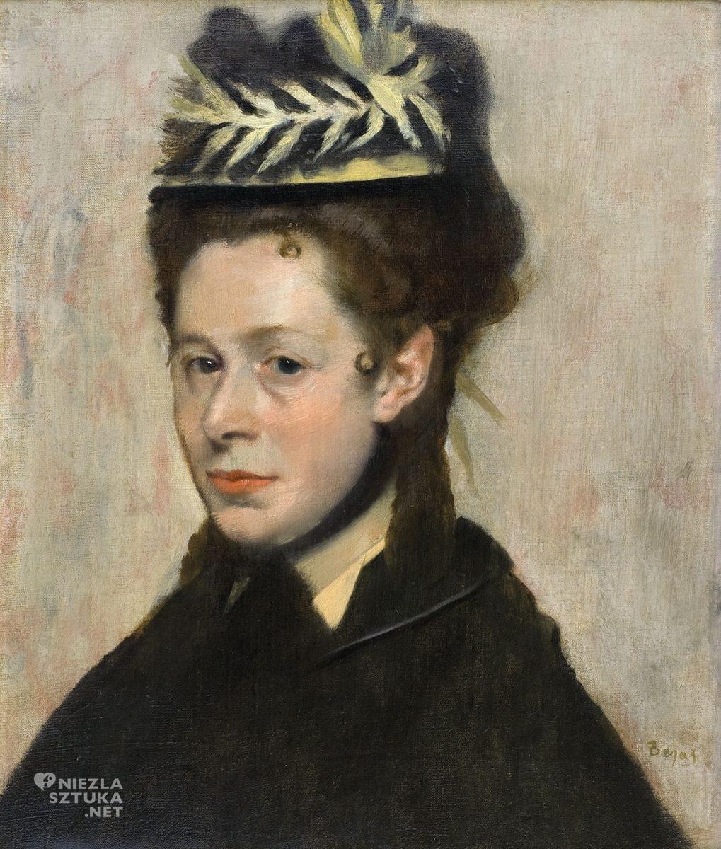 Edgar Degas, Głowa kobiety, impresjonizm, Niezła Sztuka