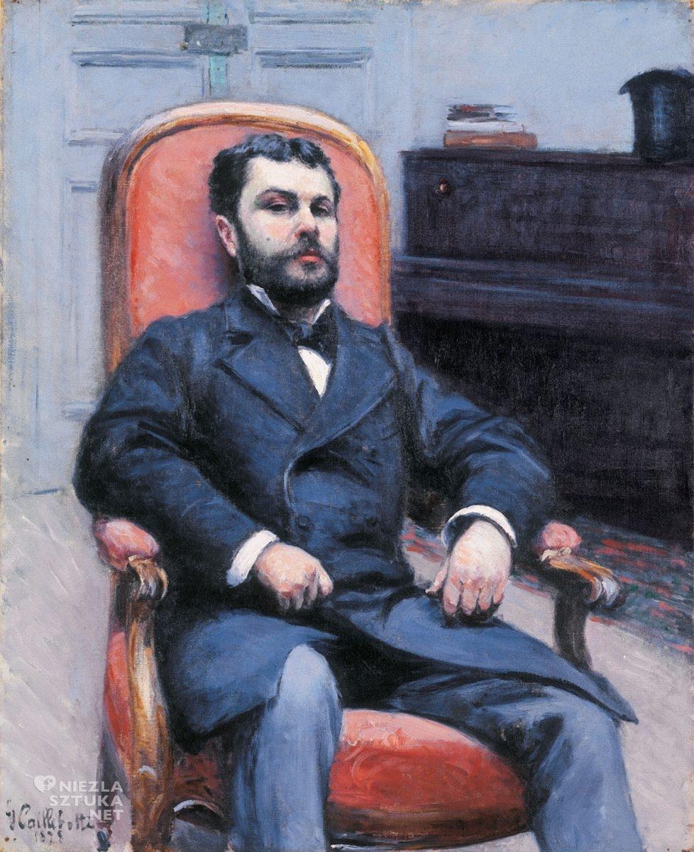 Gustave Caillebotte, Portret Richarda Gallo, impresjonizm, Niezła Sztuka