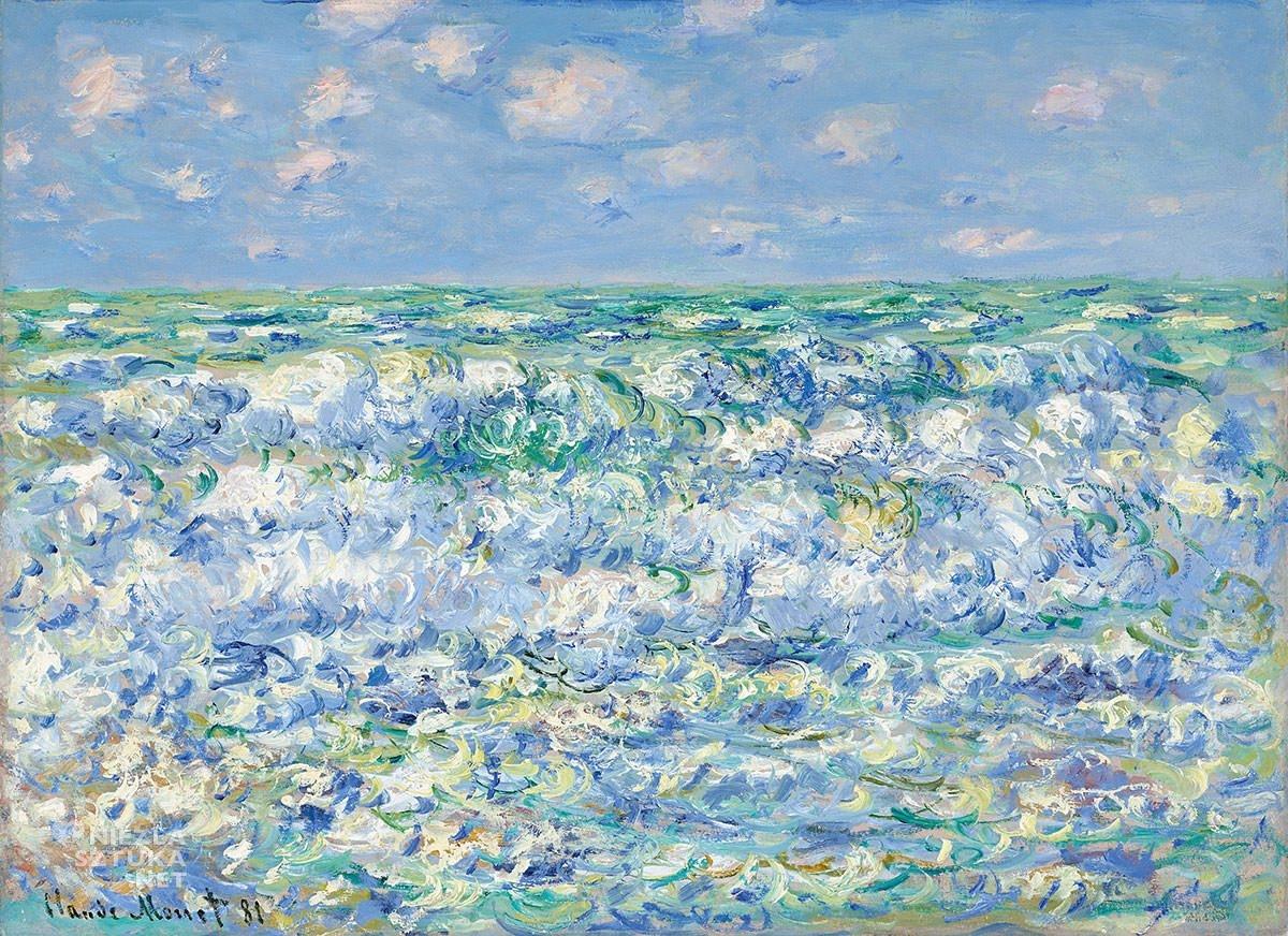 Claude Monet, Fale, natura, woda, Niezła Sztuka