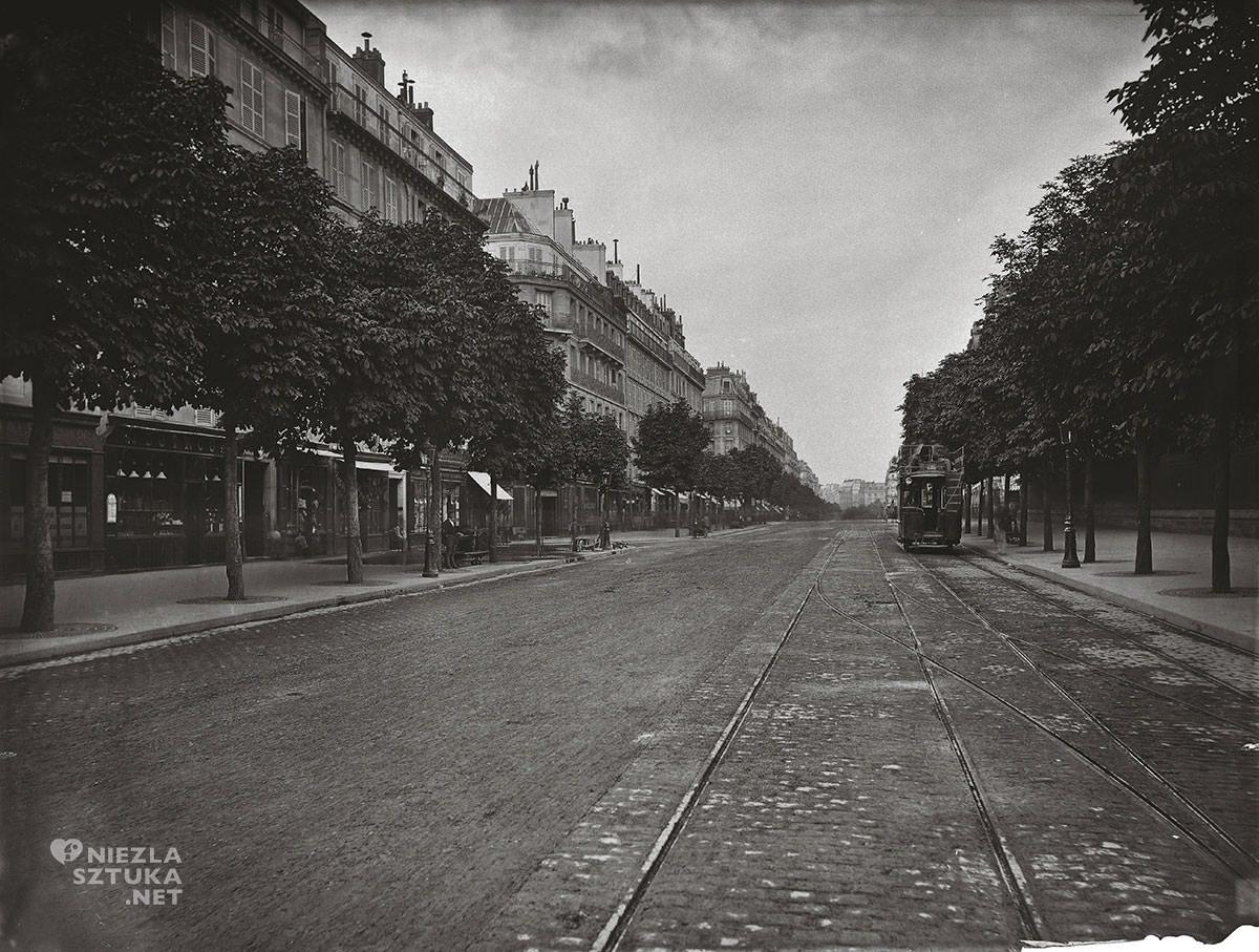 Charles Marville, Bulwar Saint Germain, Paryż, fotografia, Niezła Sztuk