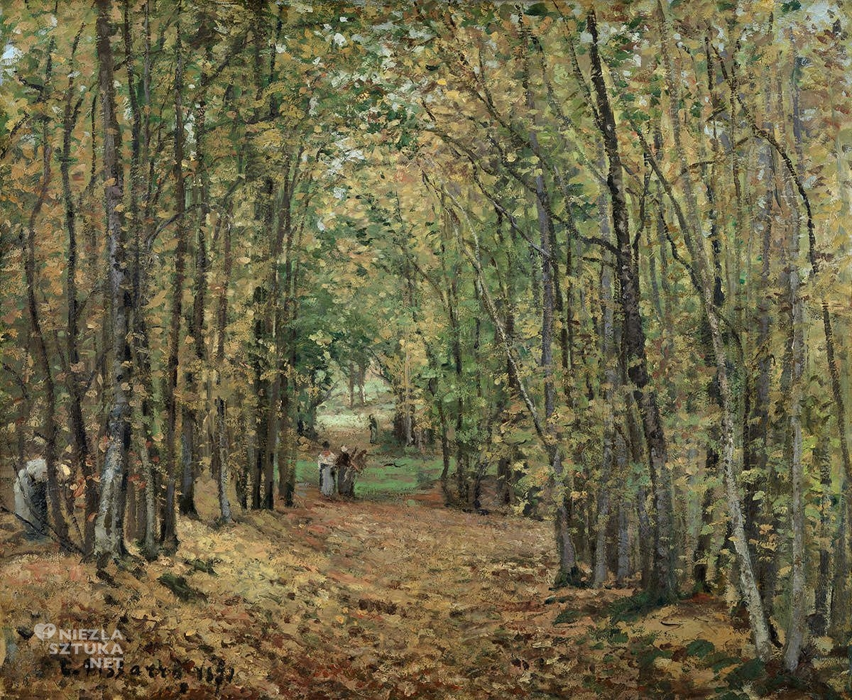 Camille Pissarro, Las w Marly, impresjonizm, Niezła Sztuka