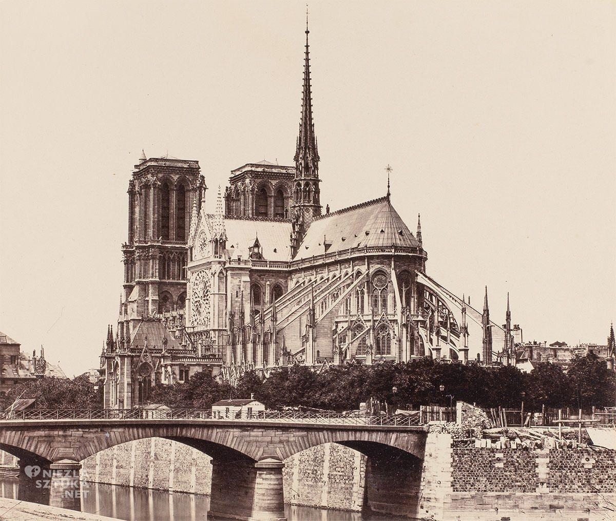 Édouard Baldus, fotografia, Katedra Notre Dame, Paryż, Niezła Sztuka
