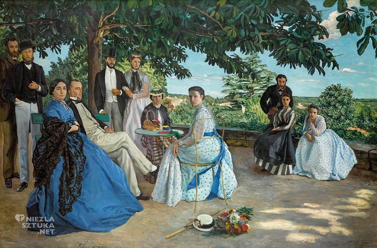 Jean Frédéric Bazille, Zjazd rodzinny, impresjonizm, Niezła Sztuka