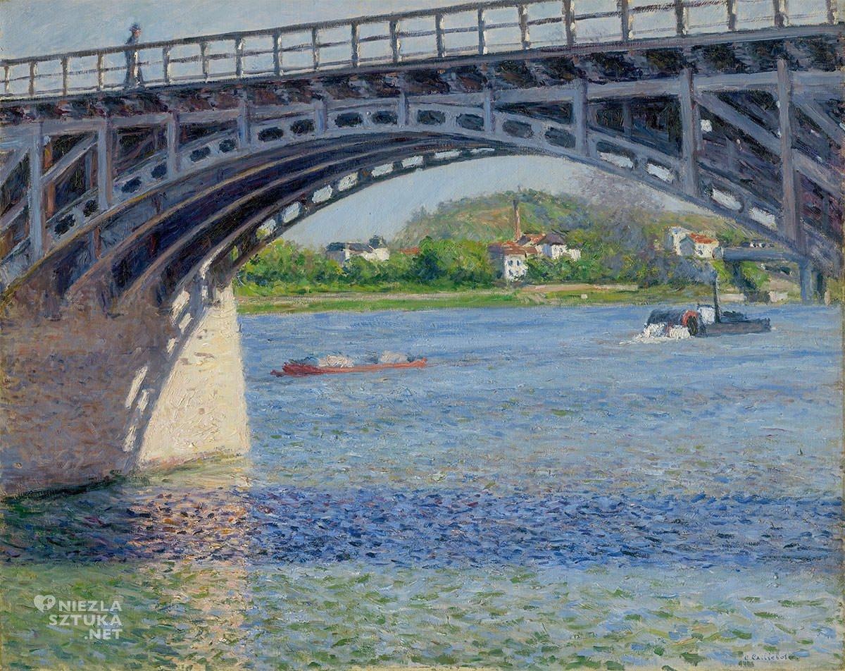 Gustave Caillebotte, Most w Argenteuil, Sekwana, impresjonizm, Niezła Sztuka