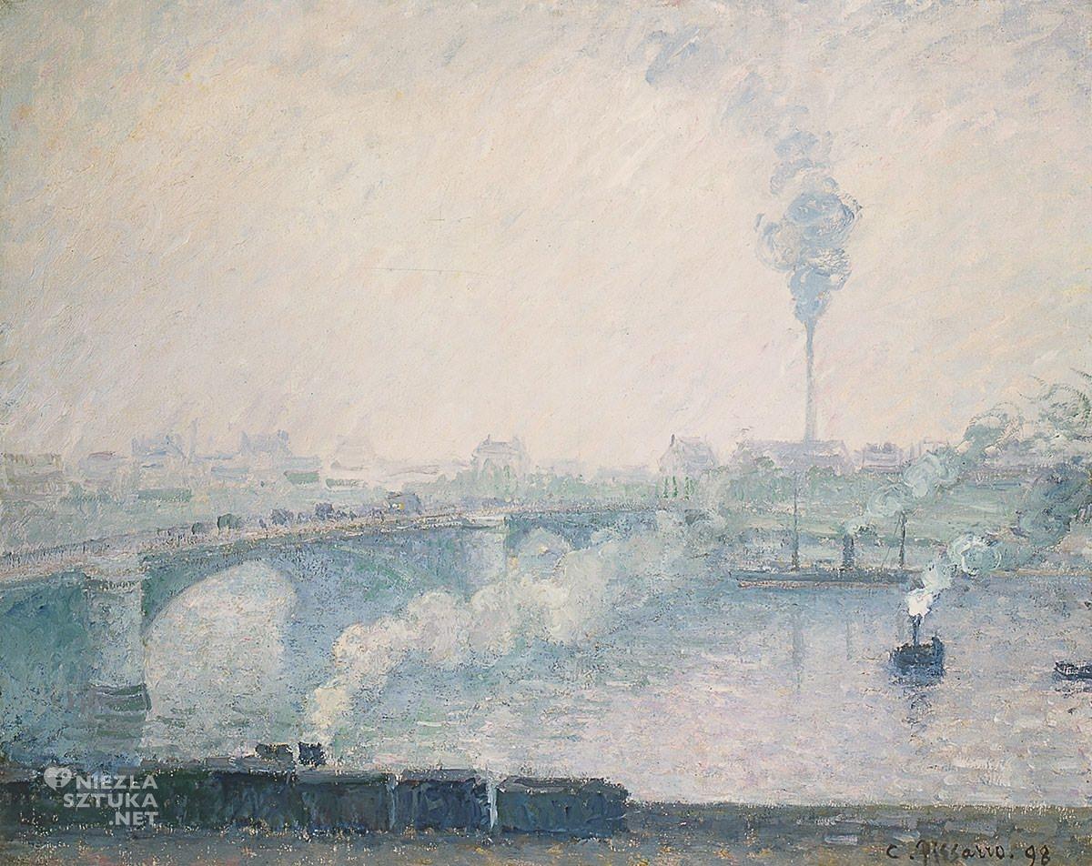 Camille Pissarro, Most Boieldieu w Rouen, impresjonizm, Niezła Sztuka