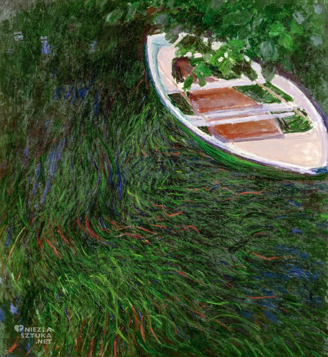 Claude Monet, Łódź wiosłowa, impresjonizm, Niezła Sztuka