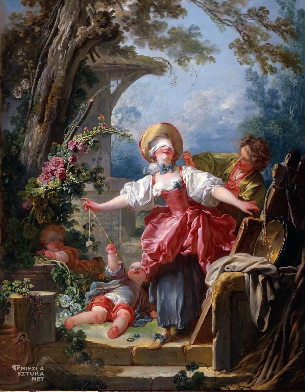 Jean Honore Fragonard, Ciuciubabka, malarstwo francuskie, rokoko, Niezła sztuka