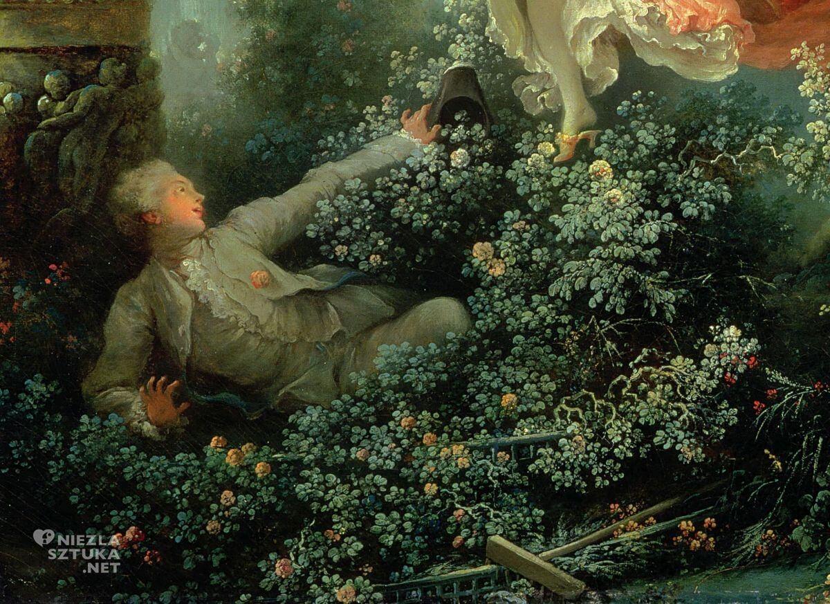 Jean Honore Fragonard, Huśtawka, malarstwo francuskie, rokoko, Niezła sztuka