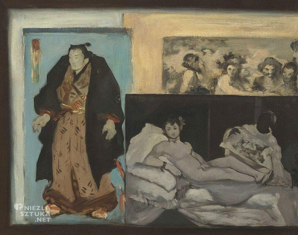 Édouard Manet, Portret Émila Zoli, detal, obraz w obrazie, Olimpia, Niezła Sztuka