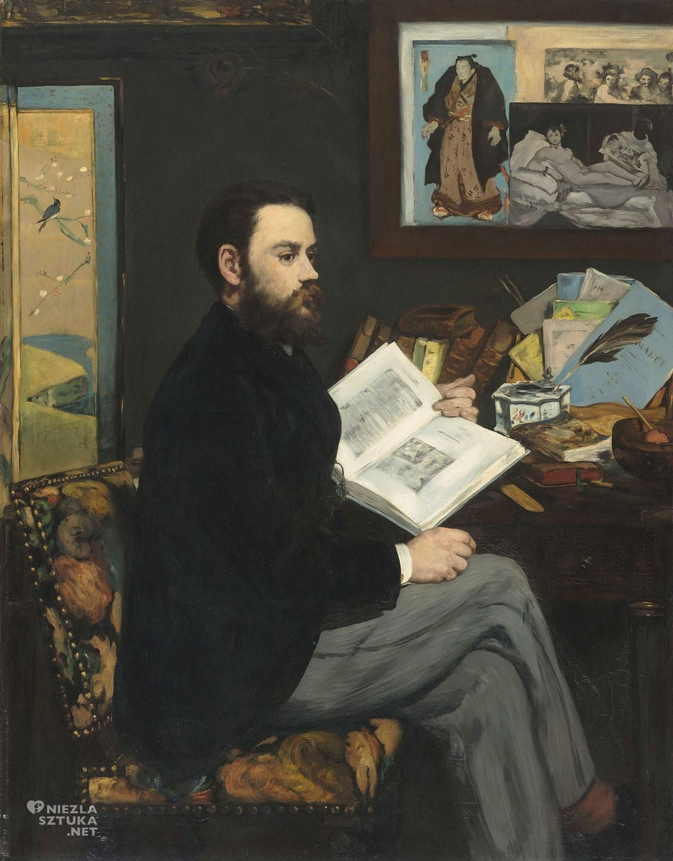 Édouard Manet, Portret Émila Zoli, portret pisarza, obraz w obrazie, Olimpia, Niezła Sztuka