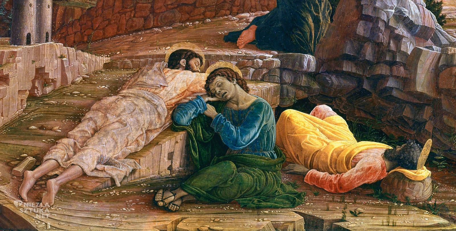 Andrea Mantegna, Chrystus wOgrodzie Oliwnym, malarstwo włoskie, biblia w malarstwie, Niezła sztuka
