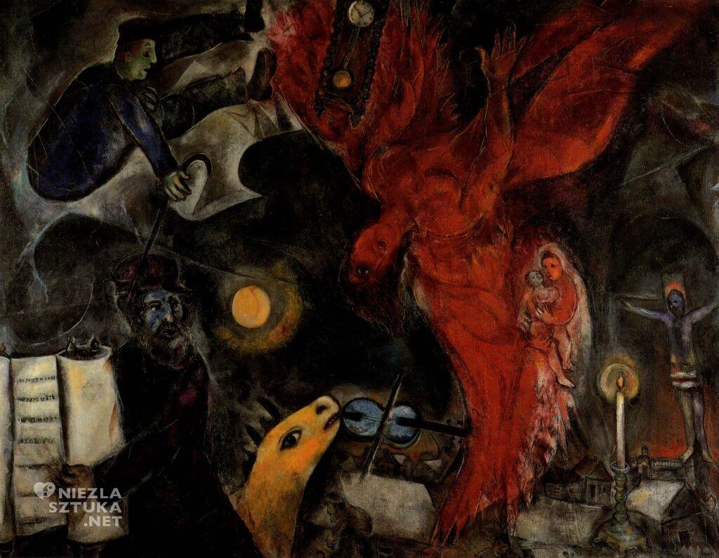 Marc Chagall, Upadek anioła, malarstwo, Niezła sztuka