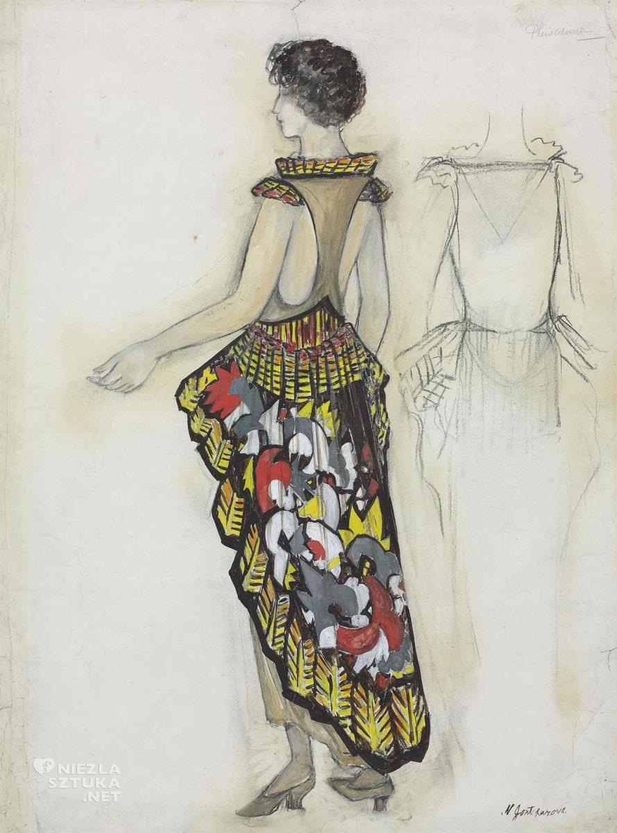Natalia Gonczarowa, szkice, moda, Niezła sztuka