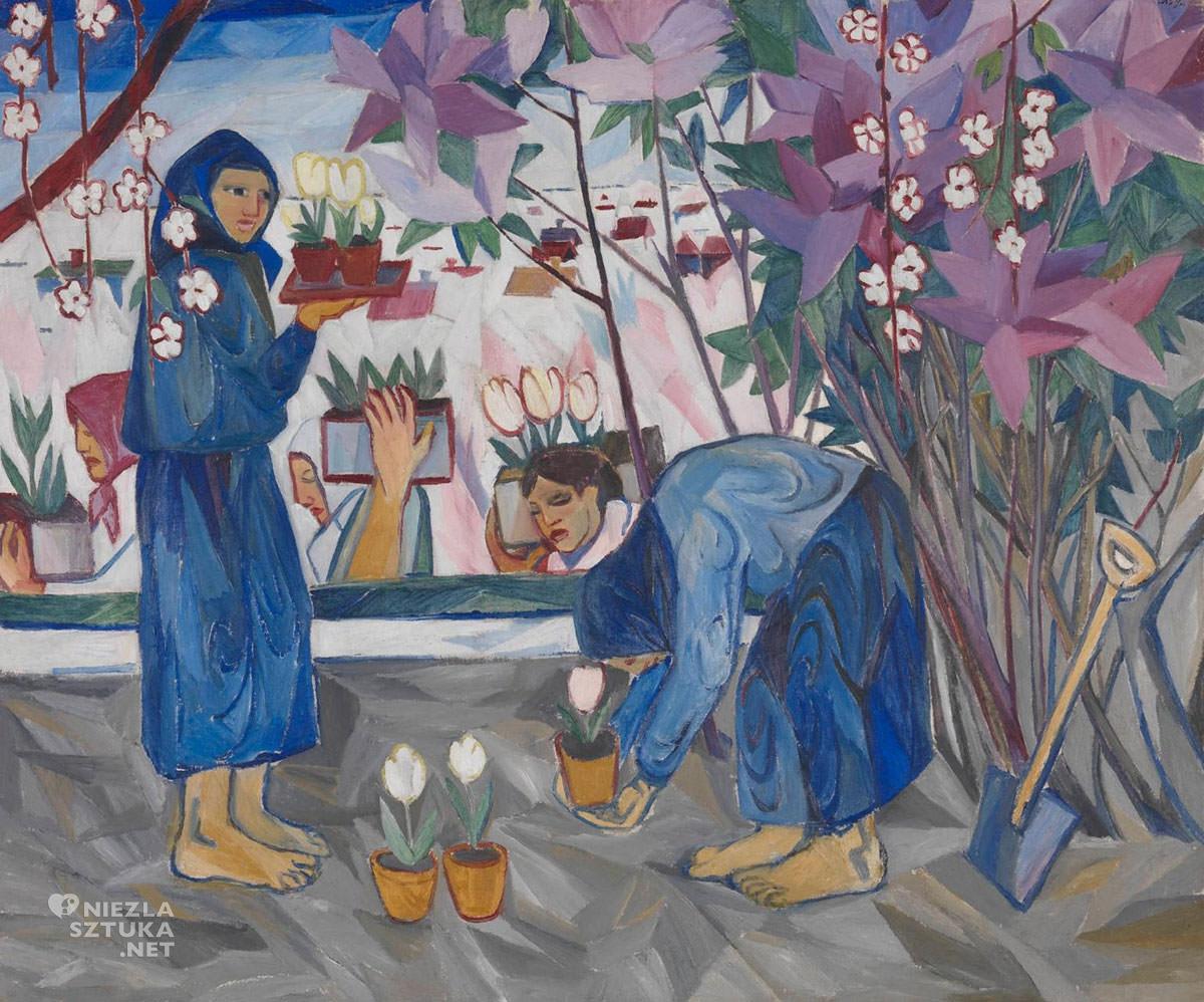 Natalia Gonczarowa, Prace w ogródku, malarka, kobiety w sztuce, Rosja, Niezła Sztuka