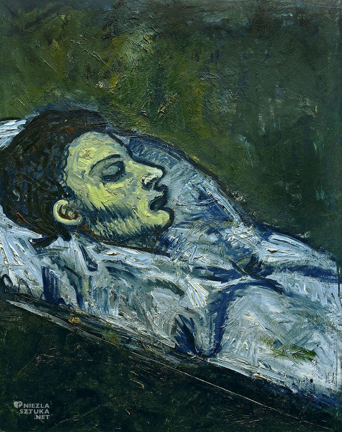 Pablo Picasso, Casagemas w trumnie, śmierć, sztuka XX wieku, Niezła Sztuka