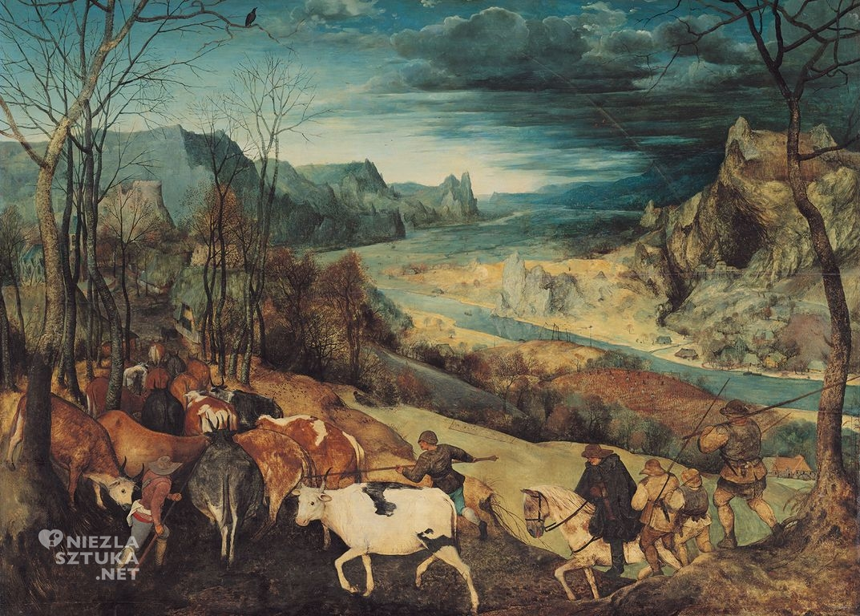 Pieter Bruegel Starszy, Powrót stada, Jesień, Kunsthistorisches Museum, Wiedeń, Niezła sztuka