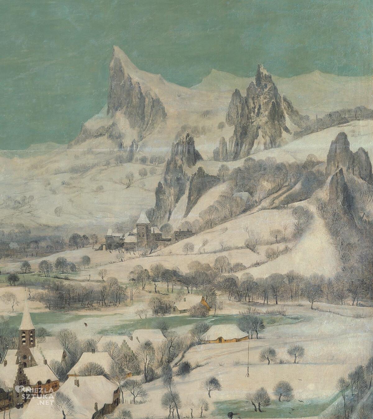 Pieter Bruegel Starszy, Pieter Bruegel, Zima, Myśliwi na śniegu, Niezła sztuka