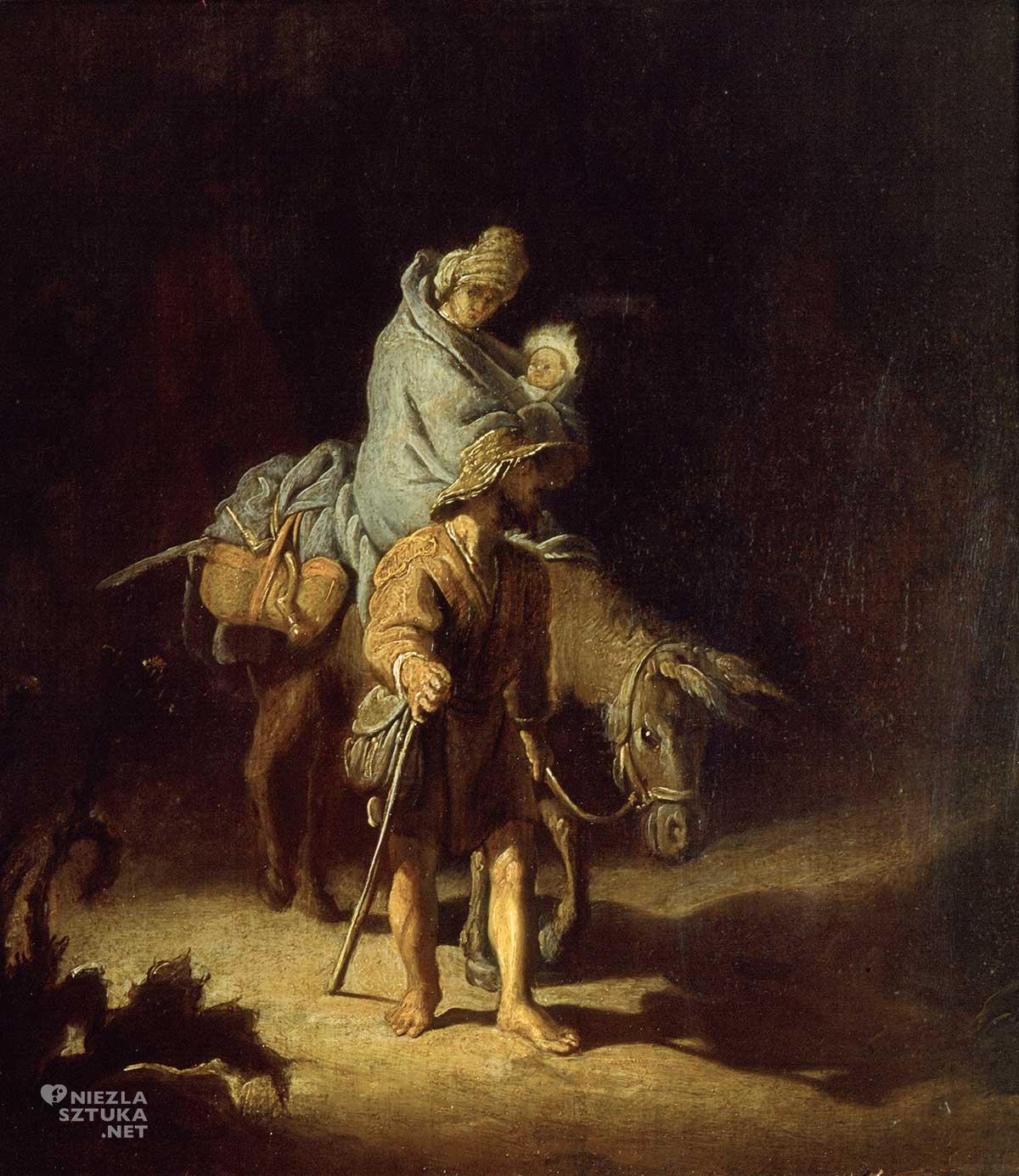 rembrandt, ucieczka do egiptu, biblia w obrazach, Niezła sztuka