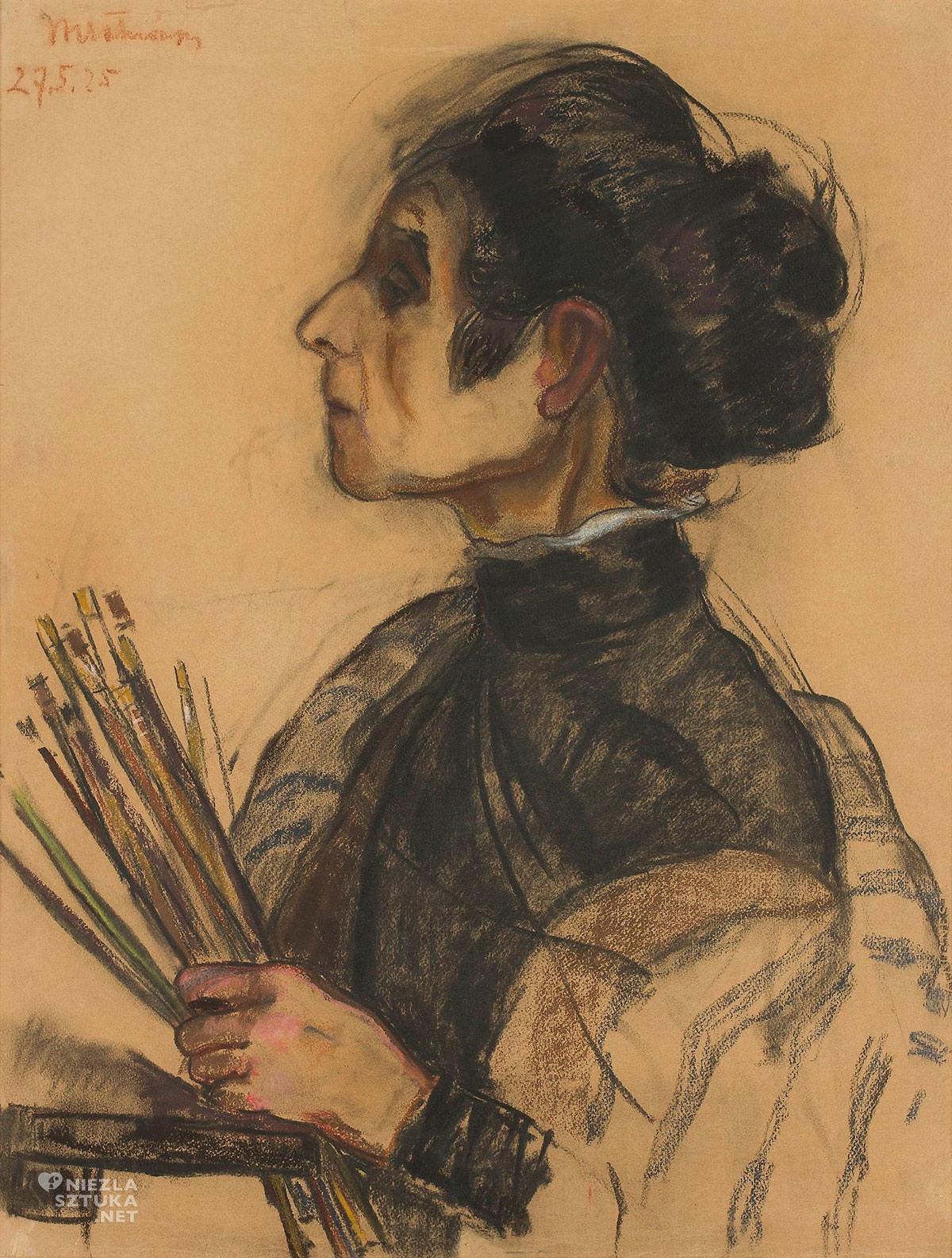 Wanda Chełmońska, Olga Boznańska, Muzeum Narodowe w Warszawie, portret, polska sztuka, sztuka polska, Niezła sztuka