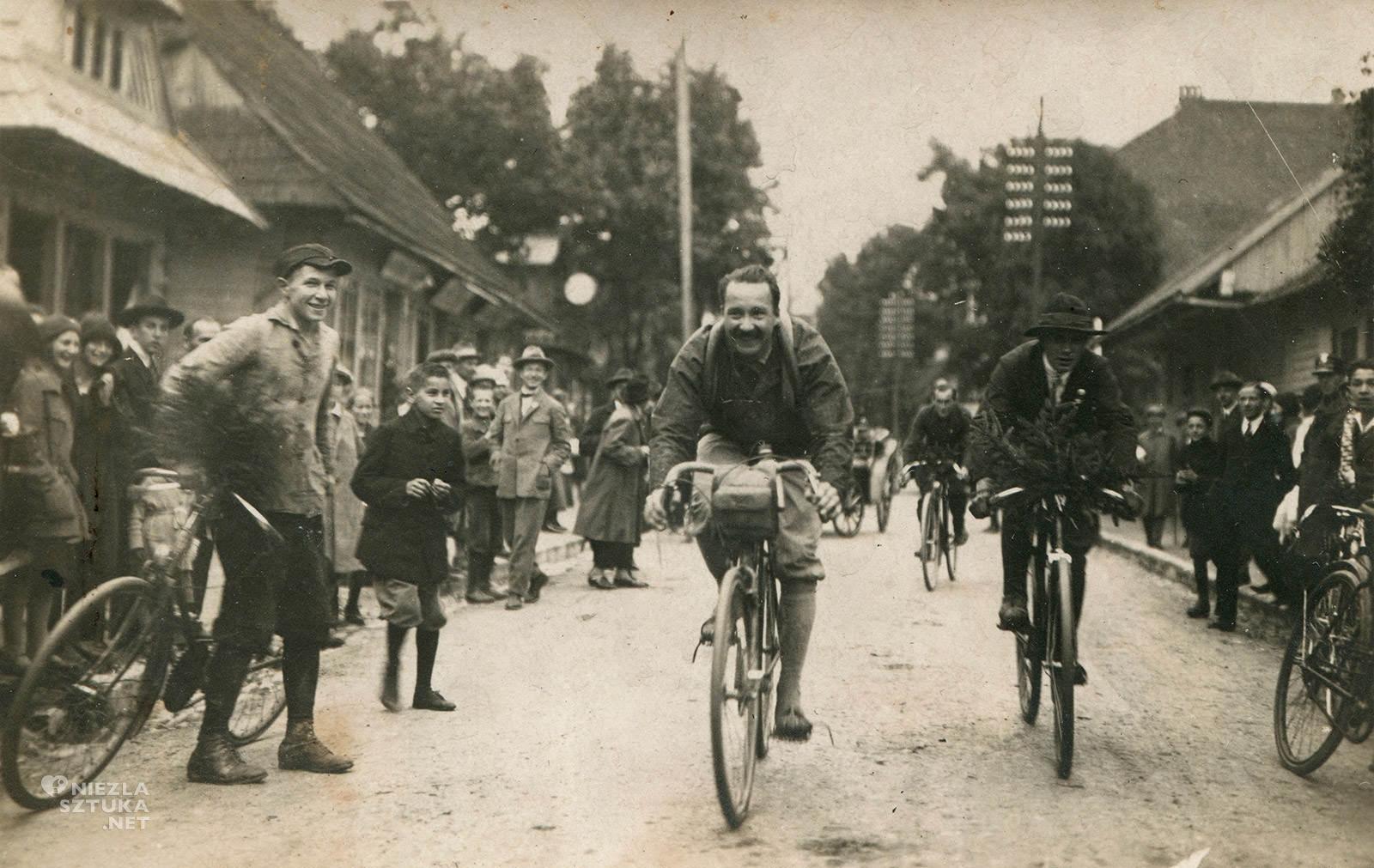 August Zamoyski wjeżdża rowerem do Zakopanego, August Zamoyski