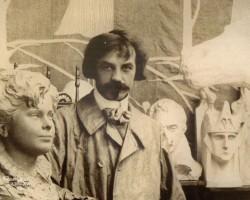 Bolesław Biegas, atelier, artysta w pracowni, rzeźba, malarstwo, Niezła sztuka