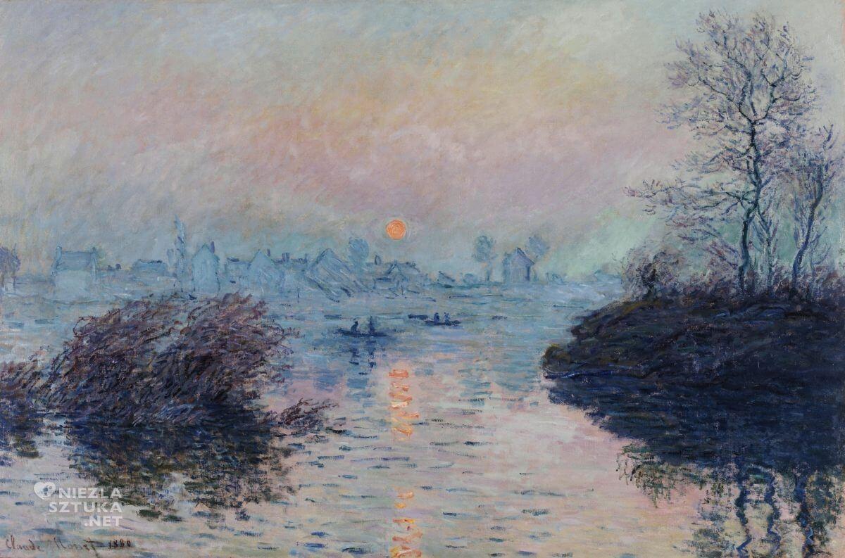 Claude Monet, Zachód słońca, impresjonizm, Niezła sztuka