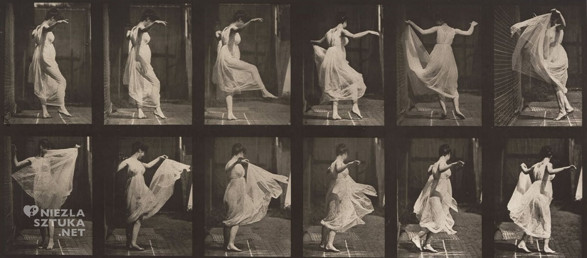 Eadweard Muybridge, fotografia, kobieta, taniec, Niezła sztuka
