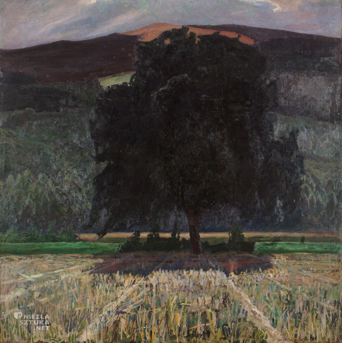 Henryk Szczygliński, Pejzaż, sztuka polska, malarstwo polskie, Niezła Sztuka