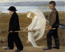 Hugo Simberg, ranny anioł, sztuka skandynawska, Niezła sztuka
