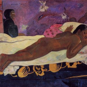 Paul Gauguin, Manao Tupapau, Tupapaus, duch Tupapau, postimpresjonizm, impresjonizm, postimpresjoniści, malarstwo Tahiti, malarstwo Polinezji, podróże Gauguina, Niezła Sztuka