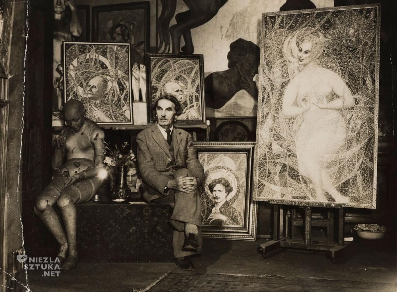 Bolesław Biegas, atelier, Paryż, artysta w pracowni, rzeźba, malarstwo, Niezła sztuka