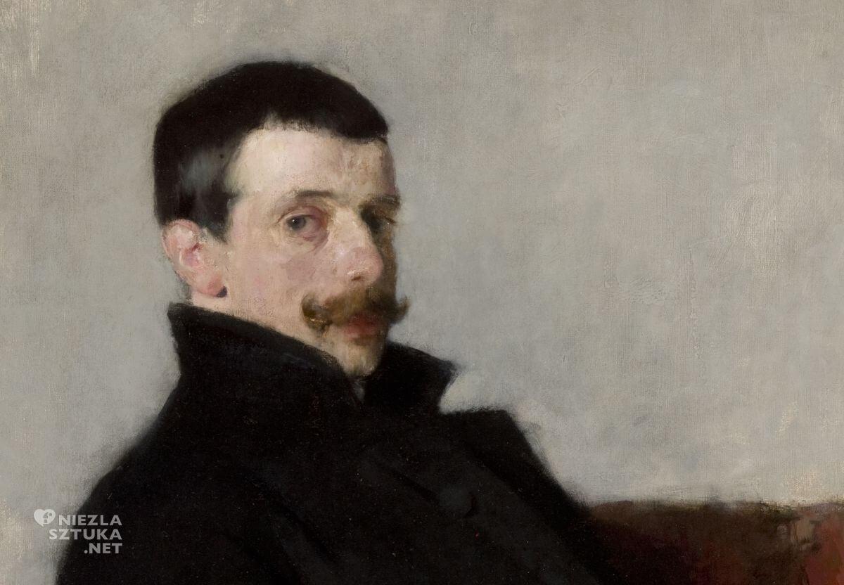 Olga Boznańska, Paul Nauen, portret, mężczyzna, Niezła sztuka