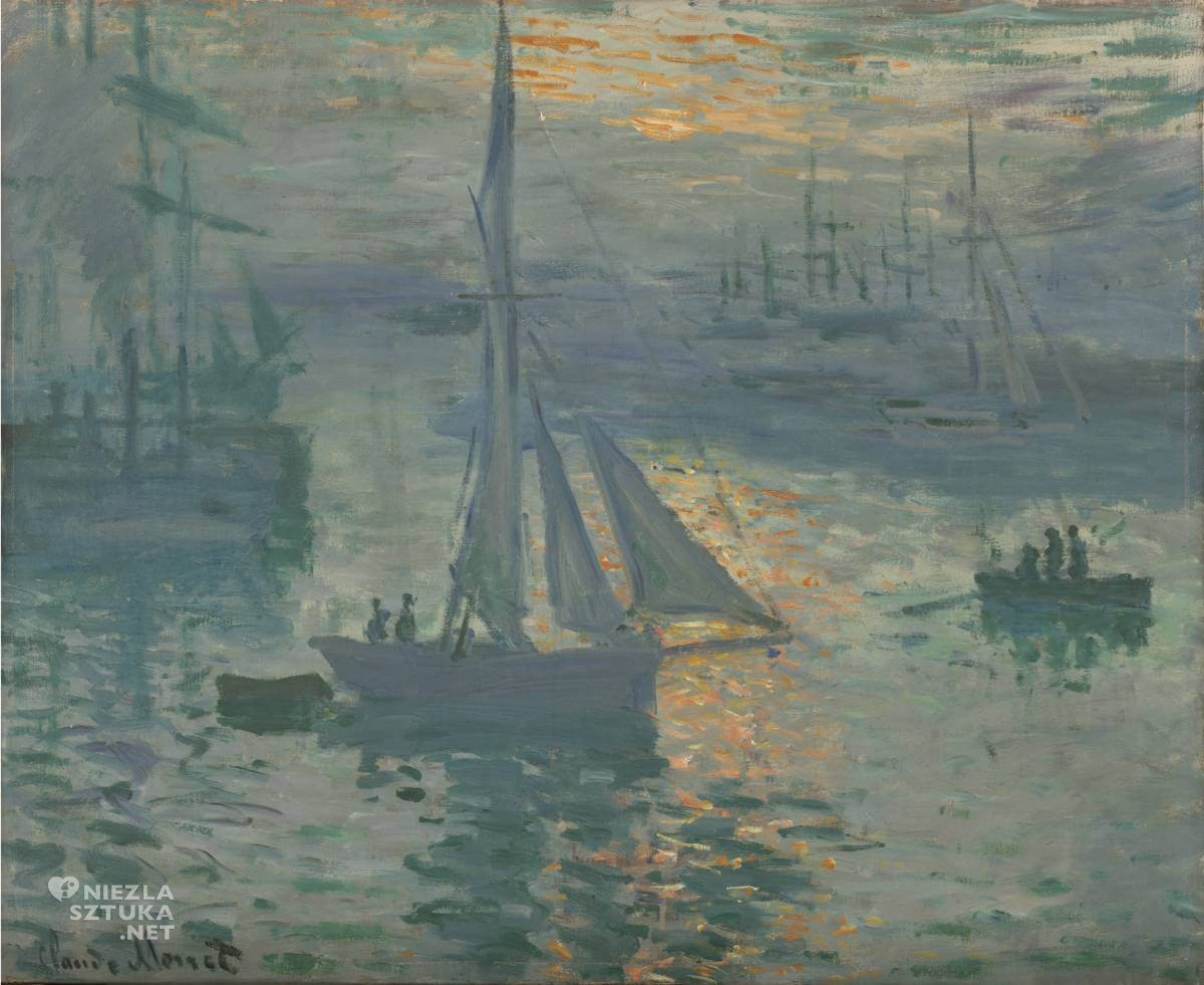 Claude Monet, Wschód słońca, impresjonizm, Niezła sztuka