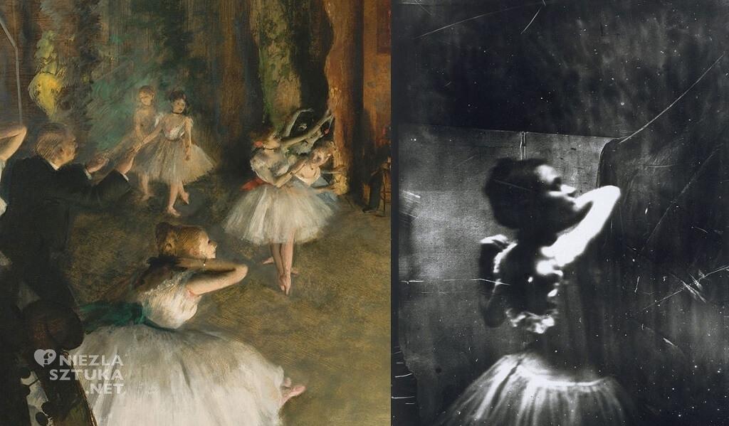 Edgar Degas, fotografia, pastel, Próba baletu na scenie, impresjonizm, impresjoniści, Niezła sztuka