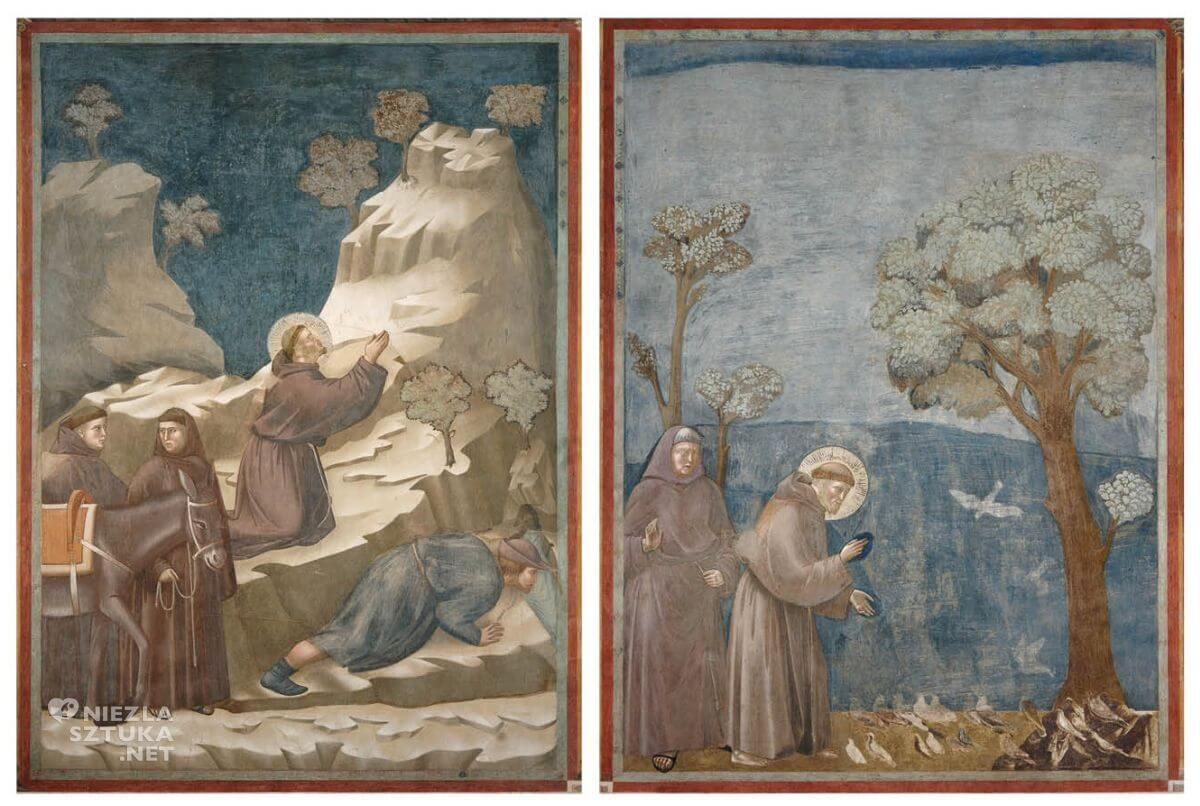 święty Franciszek, bazylika, asyż, Giotto, freski, niezła sztuka