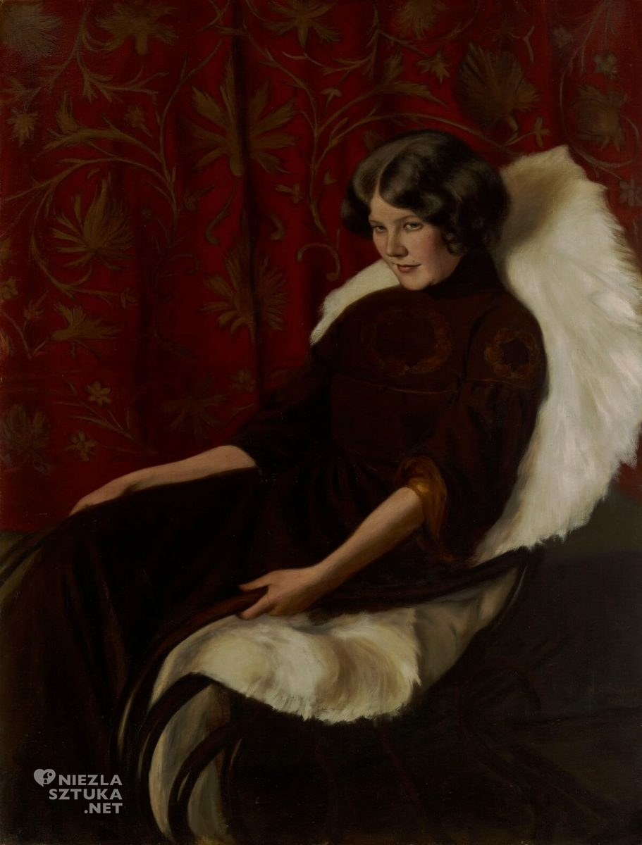 Hugo Simberg, portret, kobieta, sztuka skandynawska, Niezła sztuka