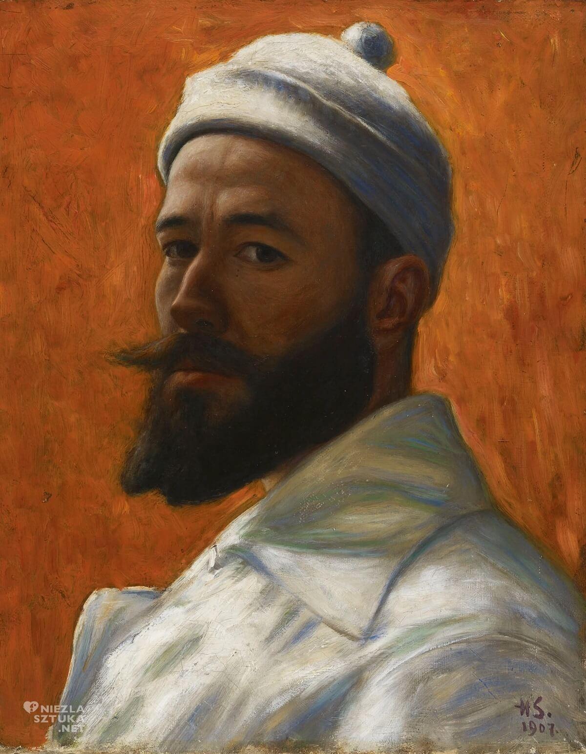 Hugo Simberg, malarz, autoportret, sztuka skandynawska, Niezła sztuka
