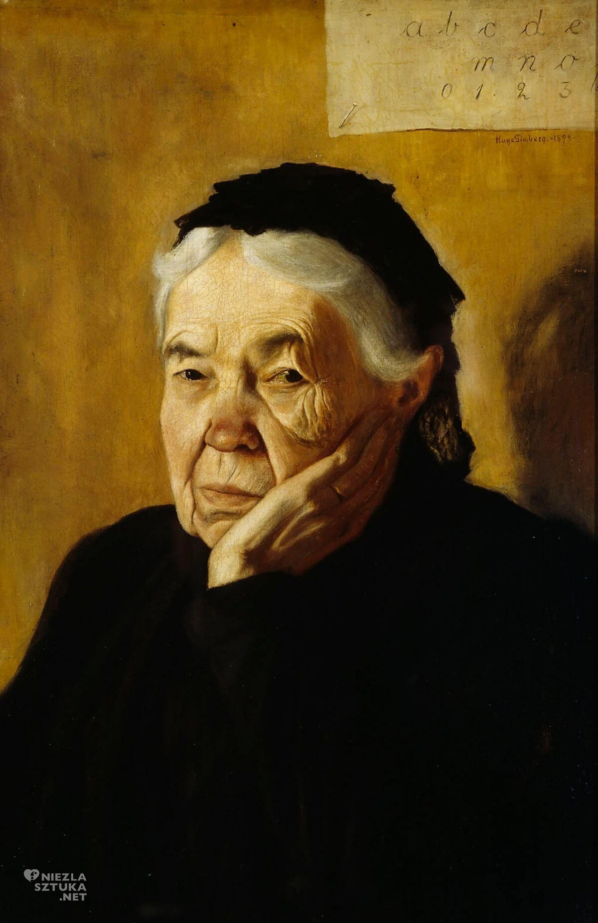 Hugo Simberg, ciocia, ciotka artysty, malarstwo skandynawskie, Szwecja, Finlandia, Niezła Sztuk