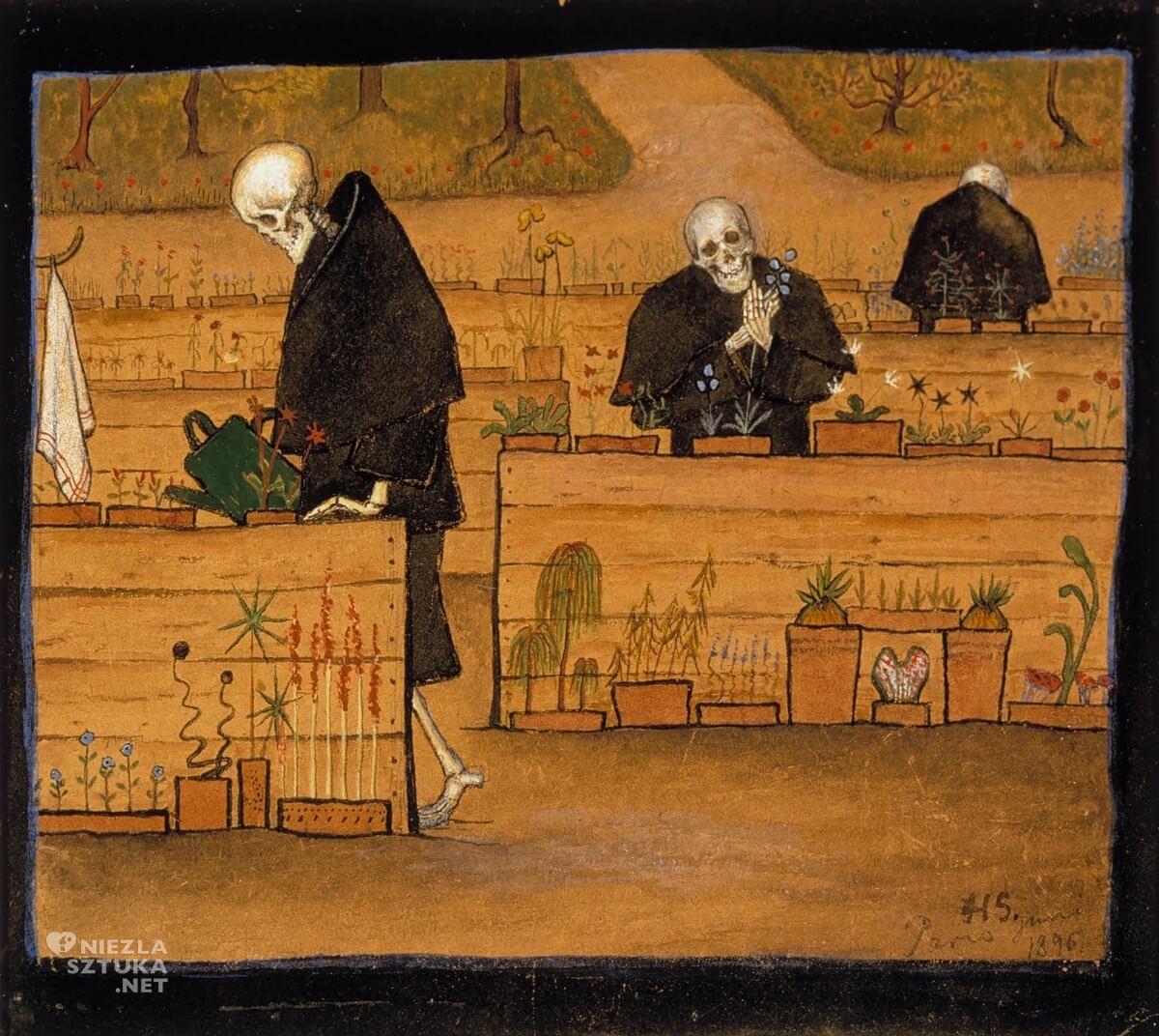 Hugo Simberg, malarstwo, śmierć, sztuka skandynawska, Niezła sztuka