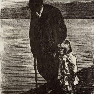 Hugo Simberg, Starzec i dziecko, sztuka skandynawska, Finlandia, Szwecja, Niezła Sztuka