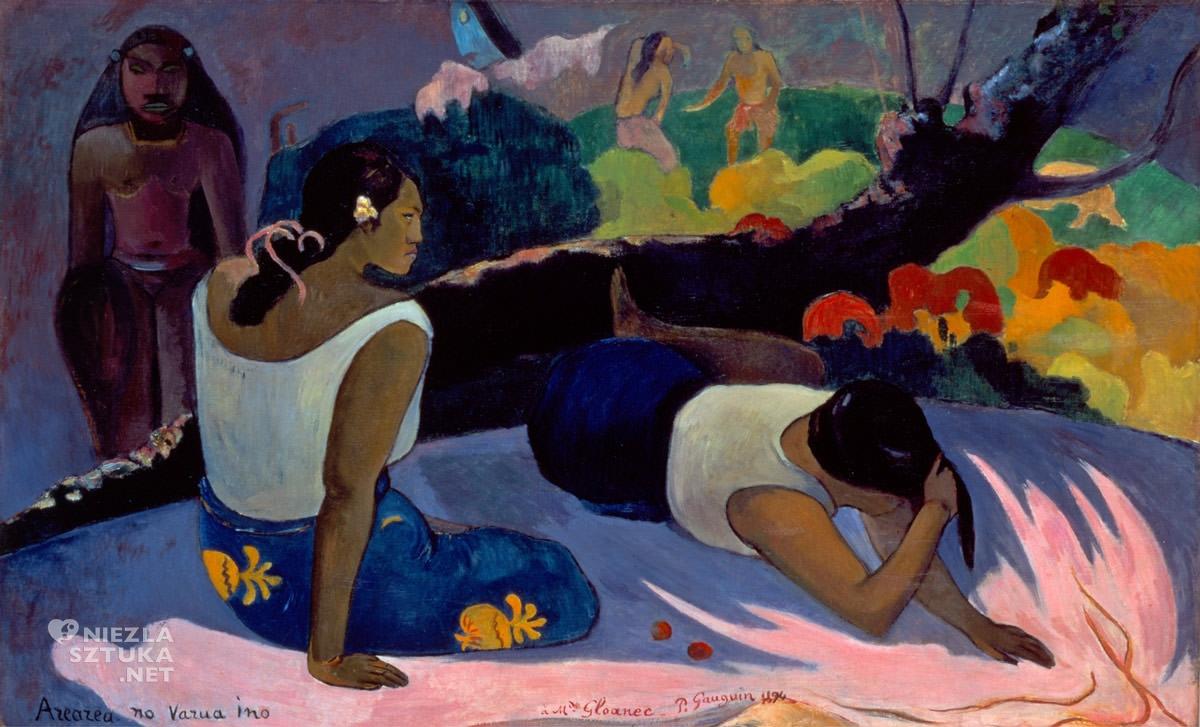 Paul Gauguin, Arearea no Varua Ino, duch Tupapau, postimpresjonizm, impresjonizm, postimpresjoniści, malarstwo Tahiti, malarstwo Polinezji, podróże Gauguina, Niezła Sztuka