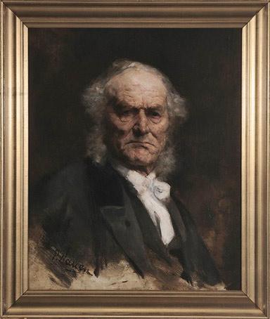 Paul Nauen, Portret starszego mężczyzny, Niezła sztuka