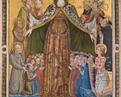Benedetto Bonfigli, Maria Matka Miłosierdzia, Oratorium San Bernardino, kościół San Francesco al Prato, Perugia, sztuka religijna, sztuka włoska, Niezła Sztuka